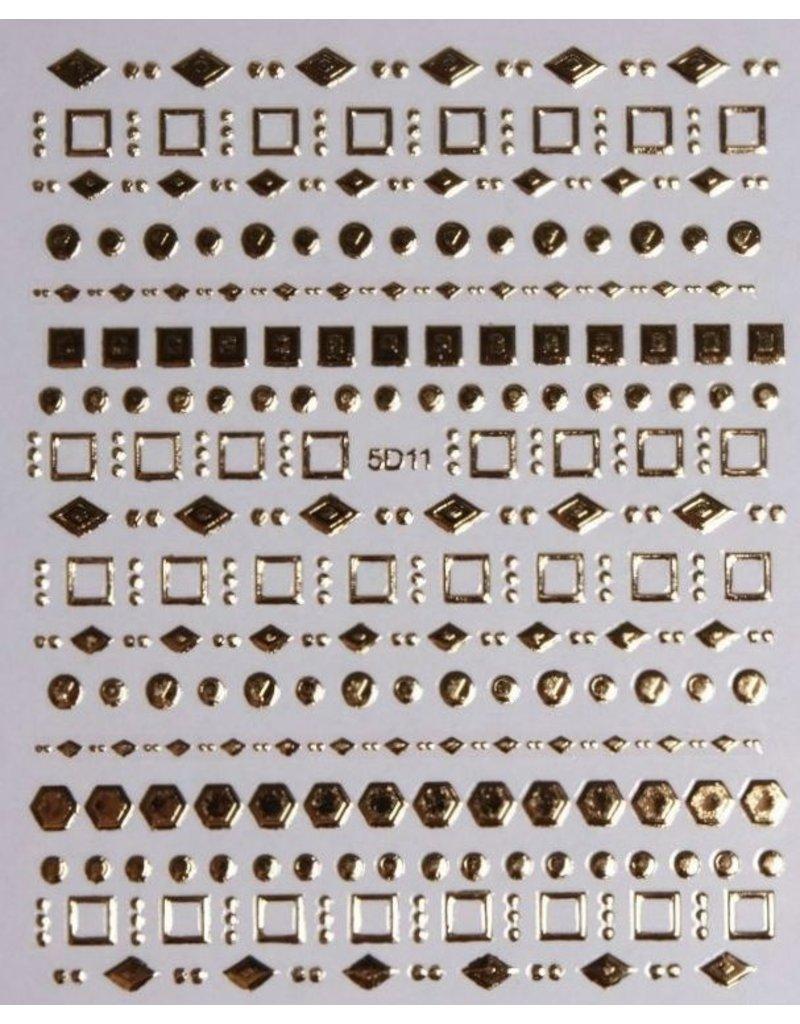 Nail Sticker gold - 5D 11