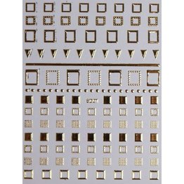 Nail Sticker gold - 5D 07