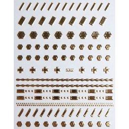 Nail Sticker gold - 5D 02