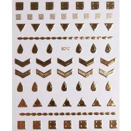 Nail Sticker gold - 5D 12