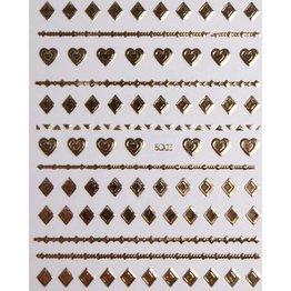 Nail Sticker gold - 5D 03