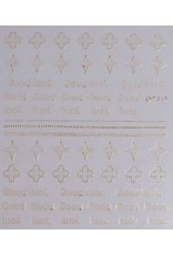 Nail Sticker gold - DP 317
