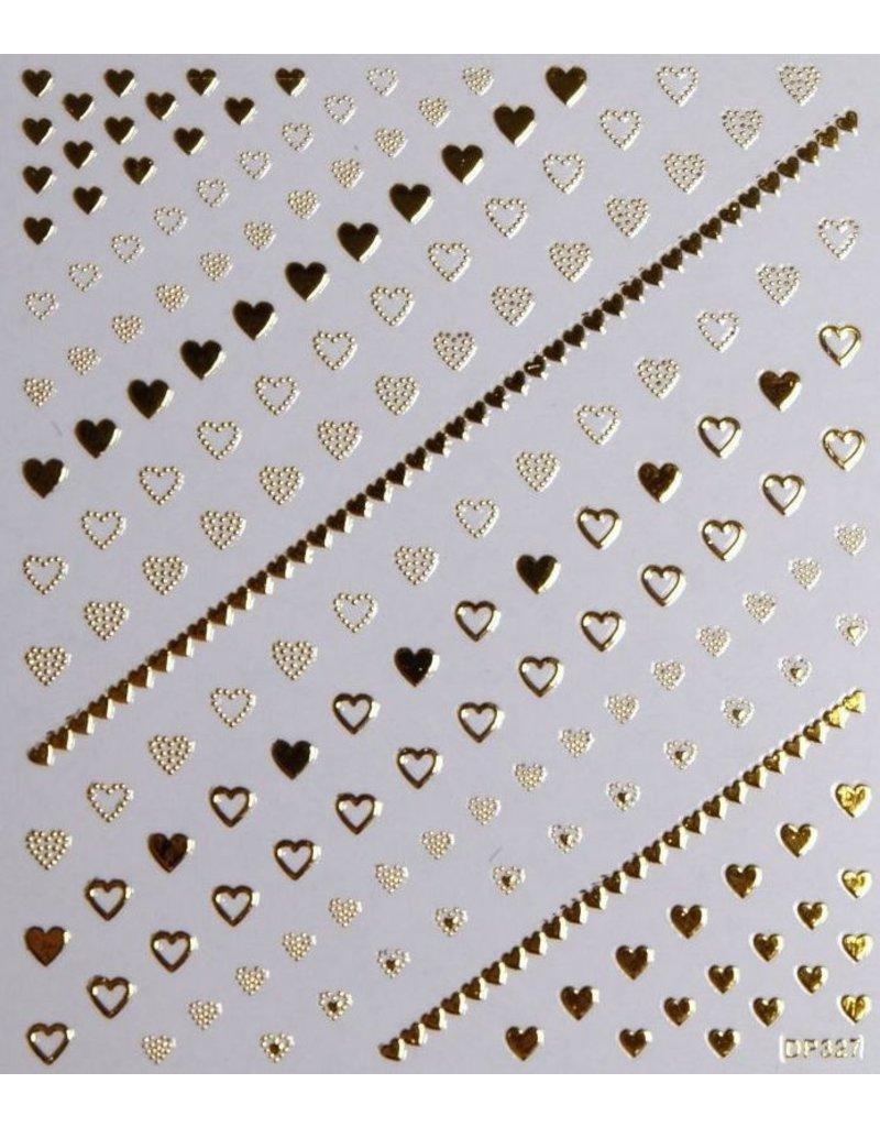Nail Sticker gold - DP 327