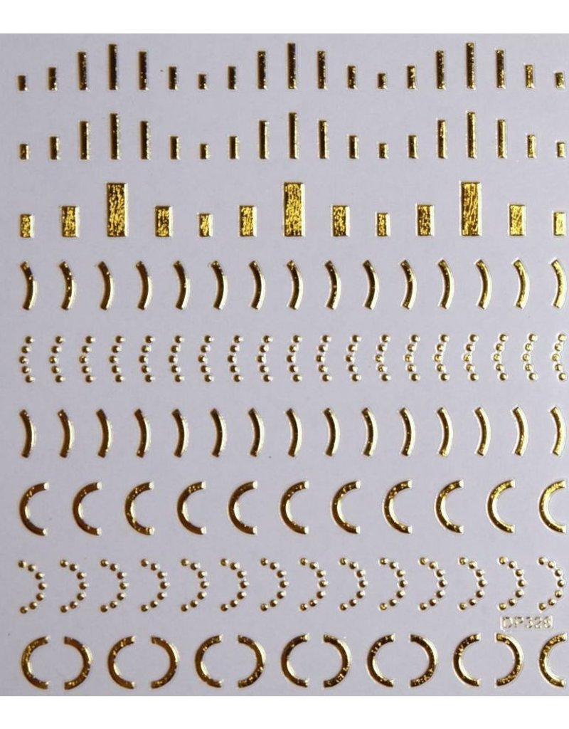 Nail Sticker gold - DP 326