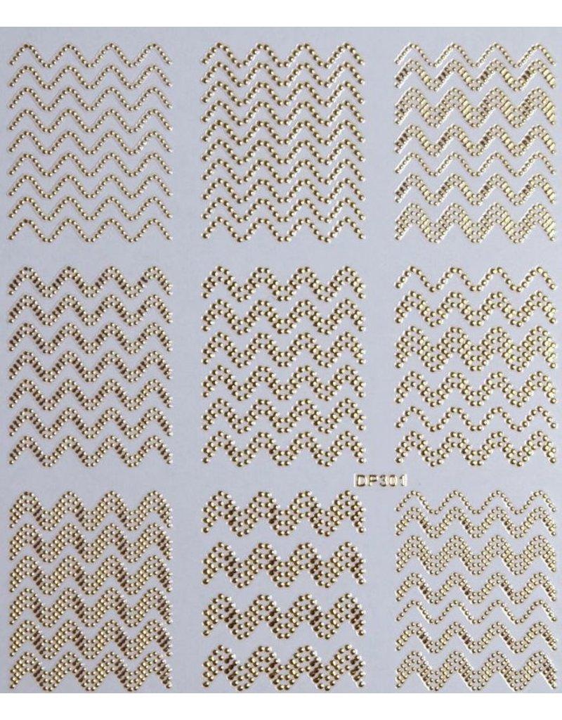 Nail Sticker gold - DP 301