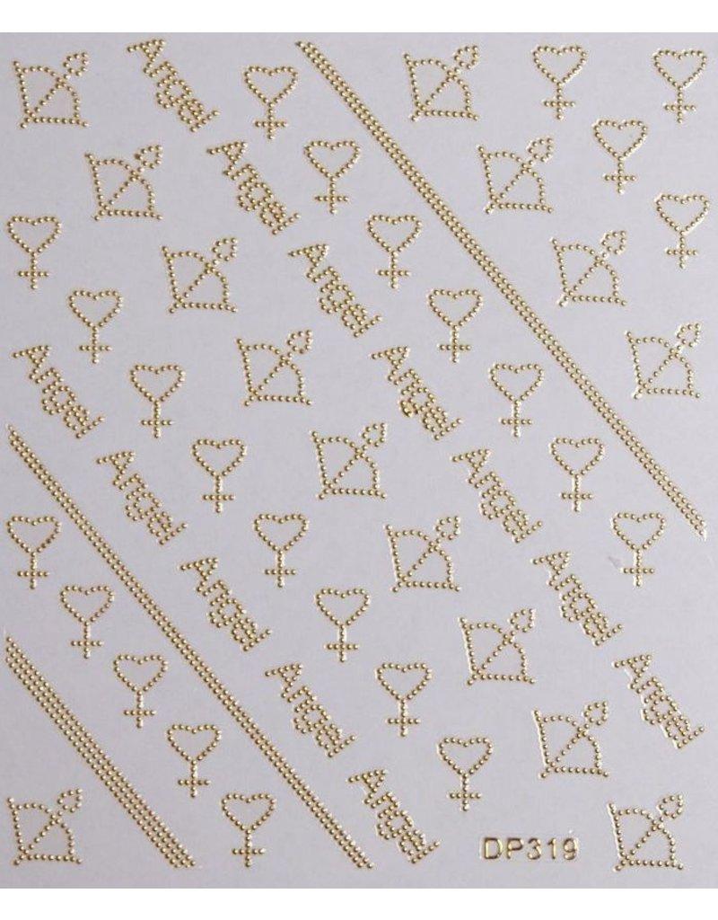 Nail Sticker gold - DP 319