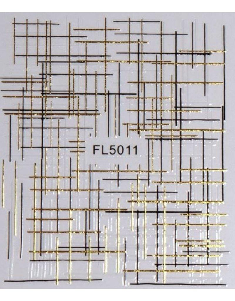 Nail Sticker gold - FL 5011