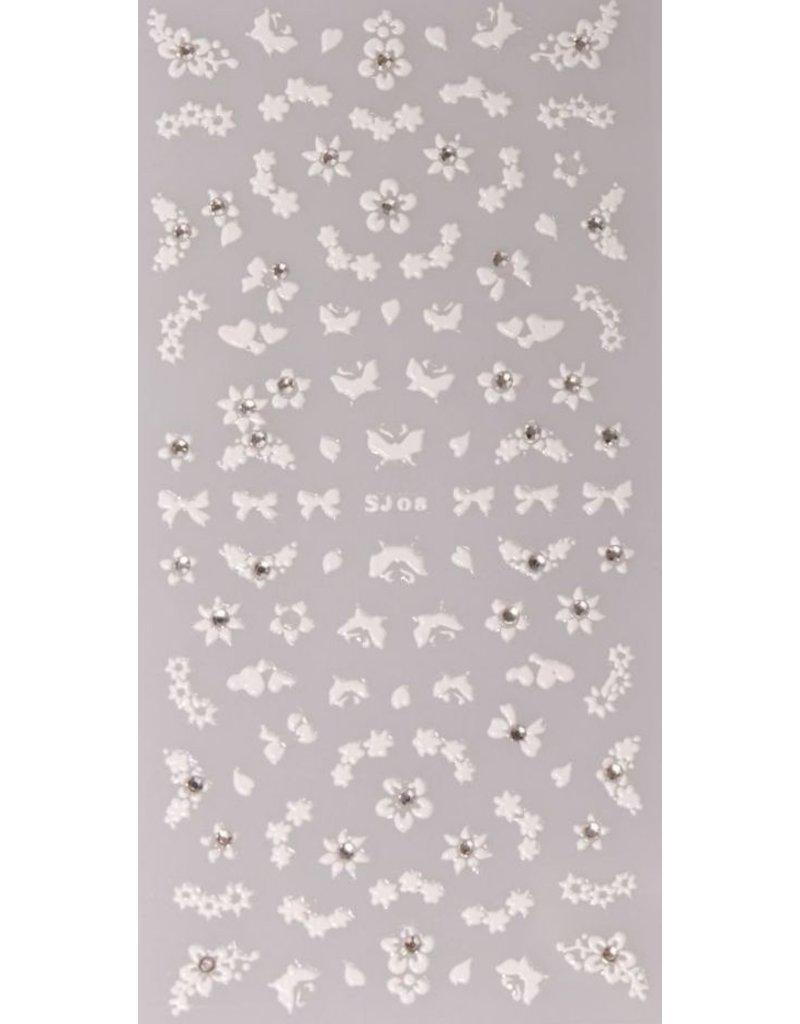 Nail Sticker weiß - SJ 08