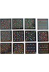 24x Nail Sticker nachtleuchtend