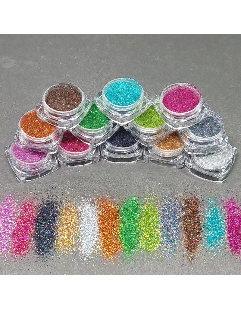 12x Holo Glitter im Set