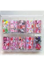 10x Nailart Transfer Folie in Box #28-03