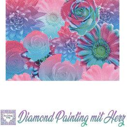 """Diamond Painting  """"Pastel Flowers"""" 50x70 cm"""