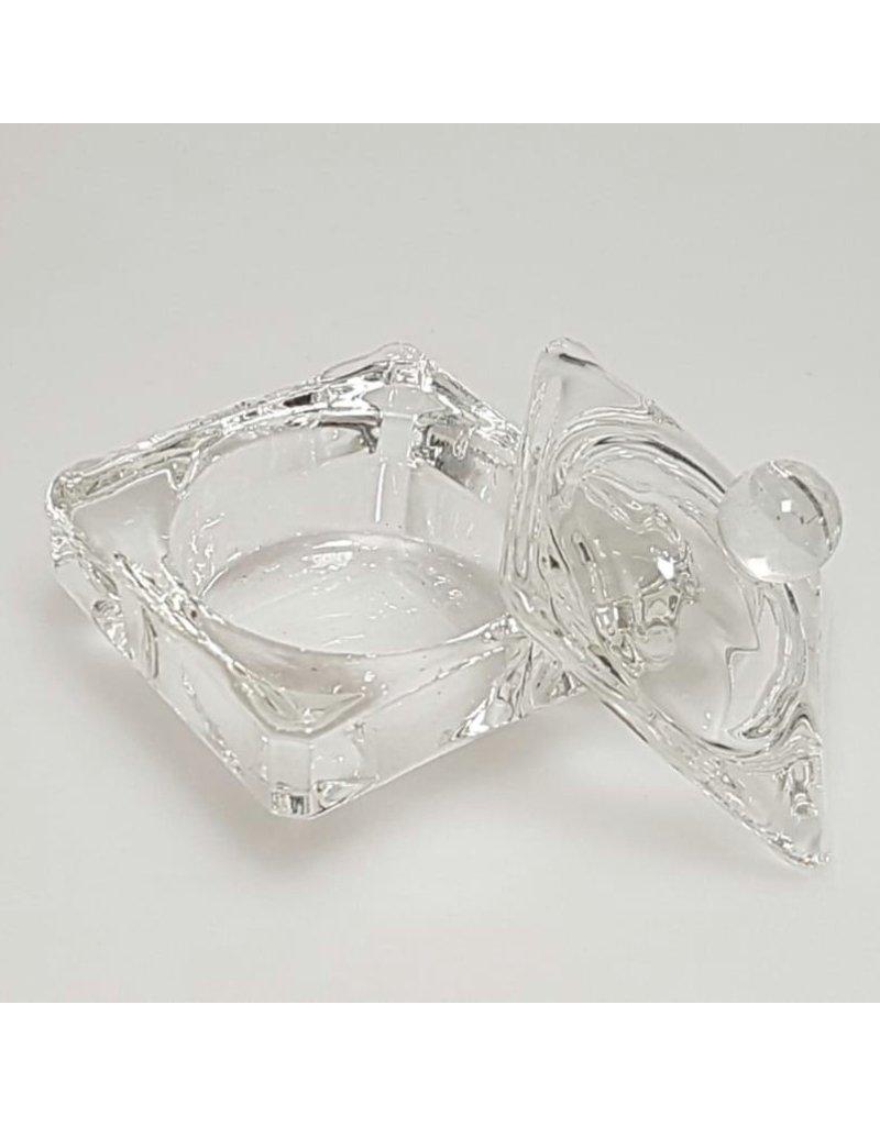 Dappen Dish Glas mit Deckel - eckig