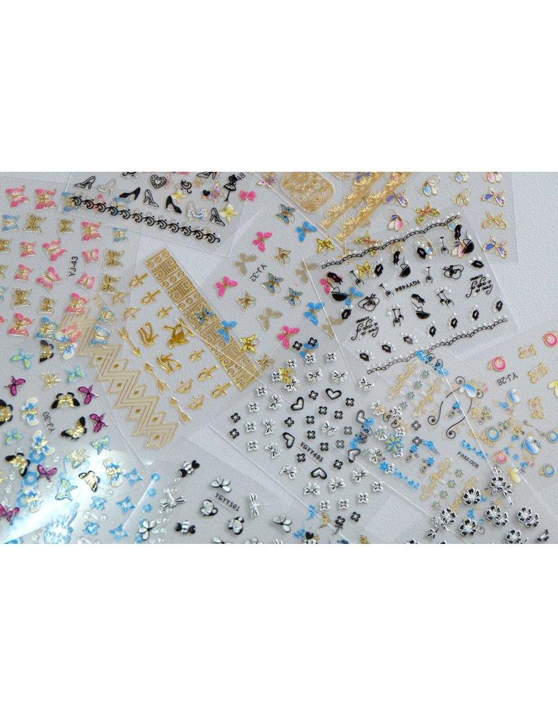 3x Nail Sticker - ZUFALL