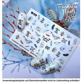 Nail Wraps Weisse Tresse W119