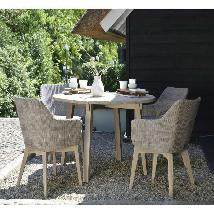 Avila outdoor set Pebble teak