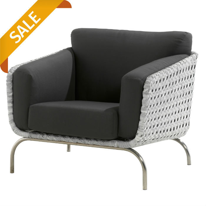 Luton loungestoel met hocker