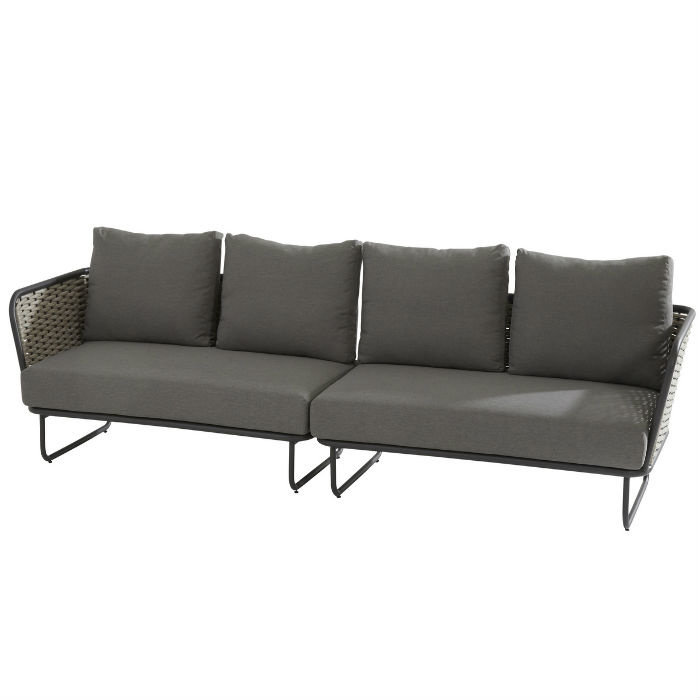Loungeset Bo from Rope in Anthracite