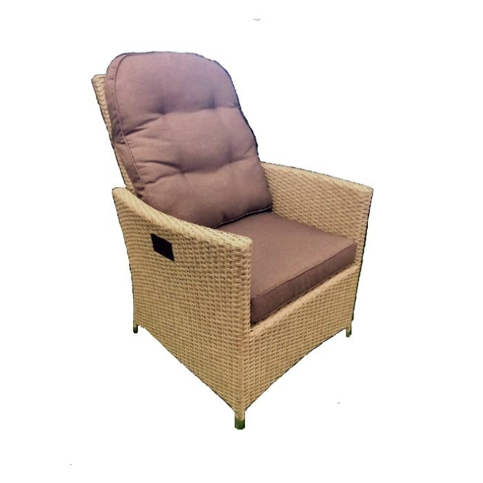 Adjustable garden chair Tuscany