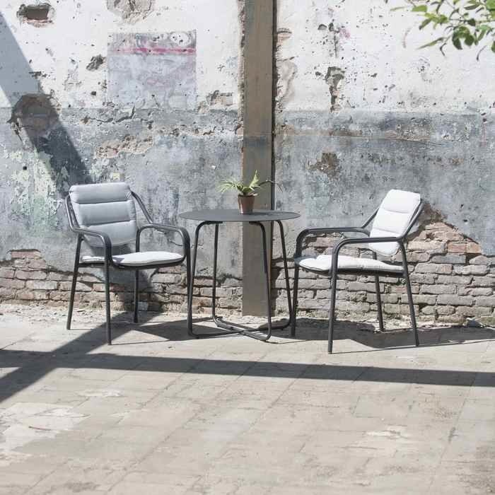 Eco aluminium stacking outdoor dining chair