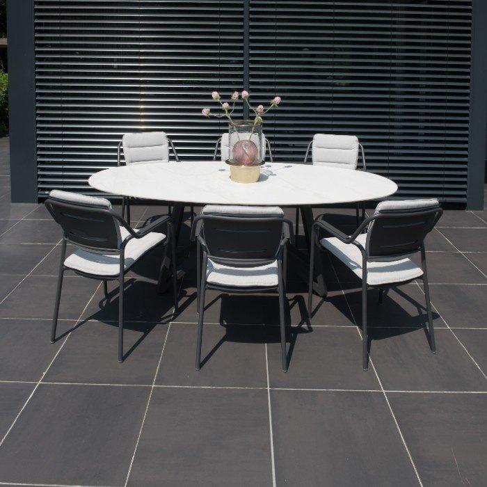 Eco aluminium stapelstoel eetstoel