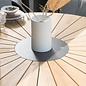 Globe tuintafel rond 160 cm met teakblad