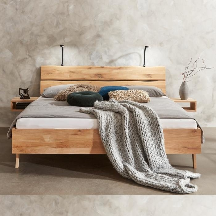 Rough solid wooden bed