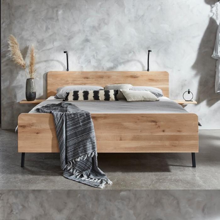 Lotus bed solid wood