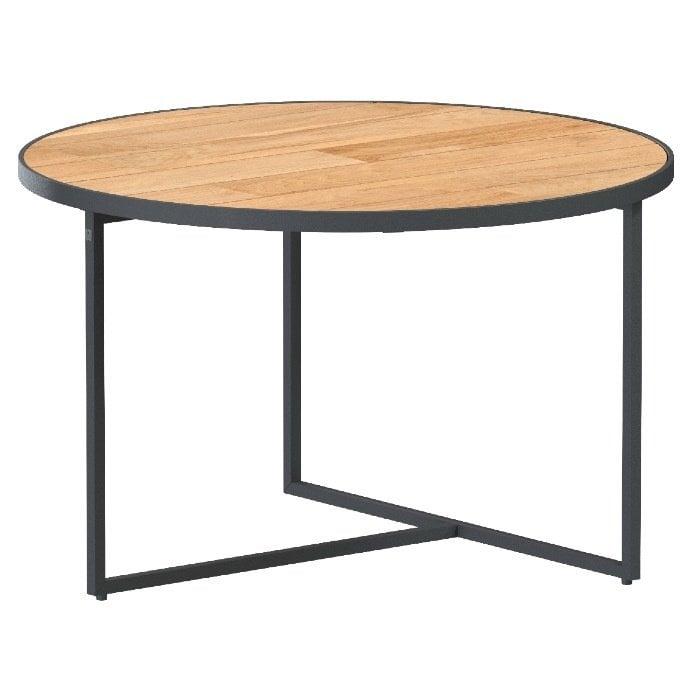 Strada coffee table natural teak Ø 58 cm