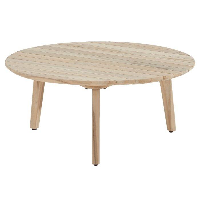 Ceylon coffee table teak round