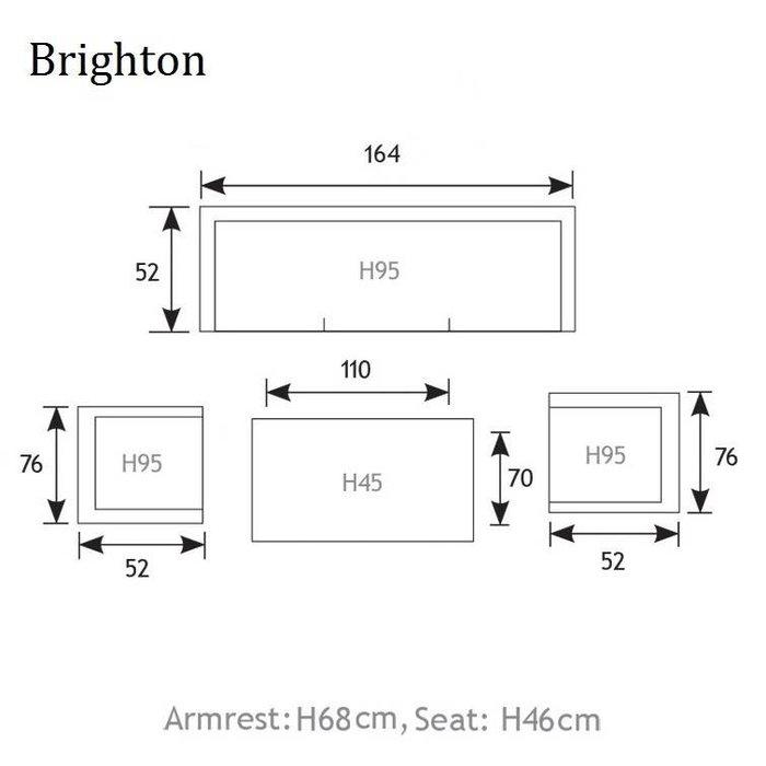 Brighton loungebank 2.5 zits