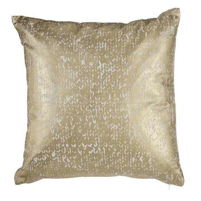 Kaat Amsterdam sierkussen golden knit gold