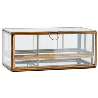Madam Stoltz Glassbox w/ removable trays 25,5x13x11,5 cm