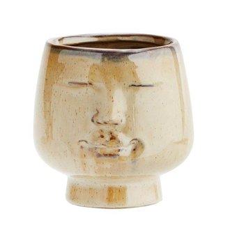 Madam Stoltz Flowerpot w/ face imprint D:12x11,5 cm