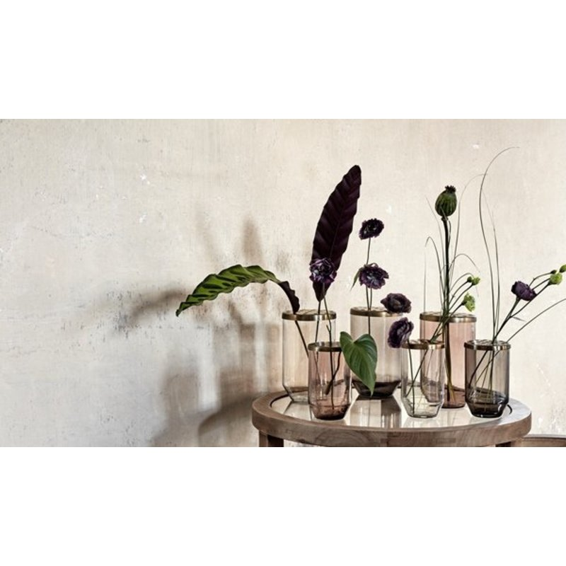Nordal-collectie Vase with metal lid dusty black
