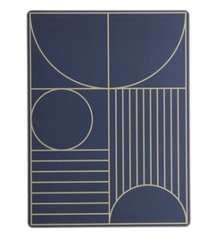 ferm LIVING-collectie Placemat Outline - Donkerblauw