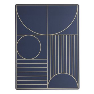 ferm LIVING Placemat Outline - Donkerblauw