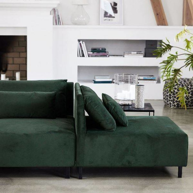 House Doctor-collectie Sofa BOX - Belunga green