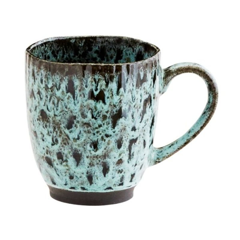 Madam Stoltz-collectie Aardewerk beker groen-blauw