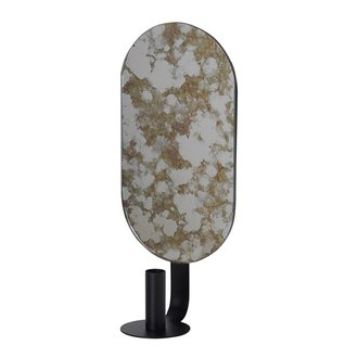 ferm LIVING Candle holder Coupled oval - Moss green