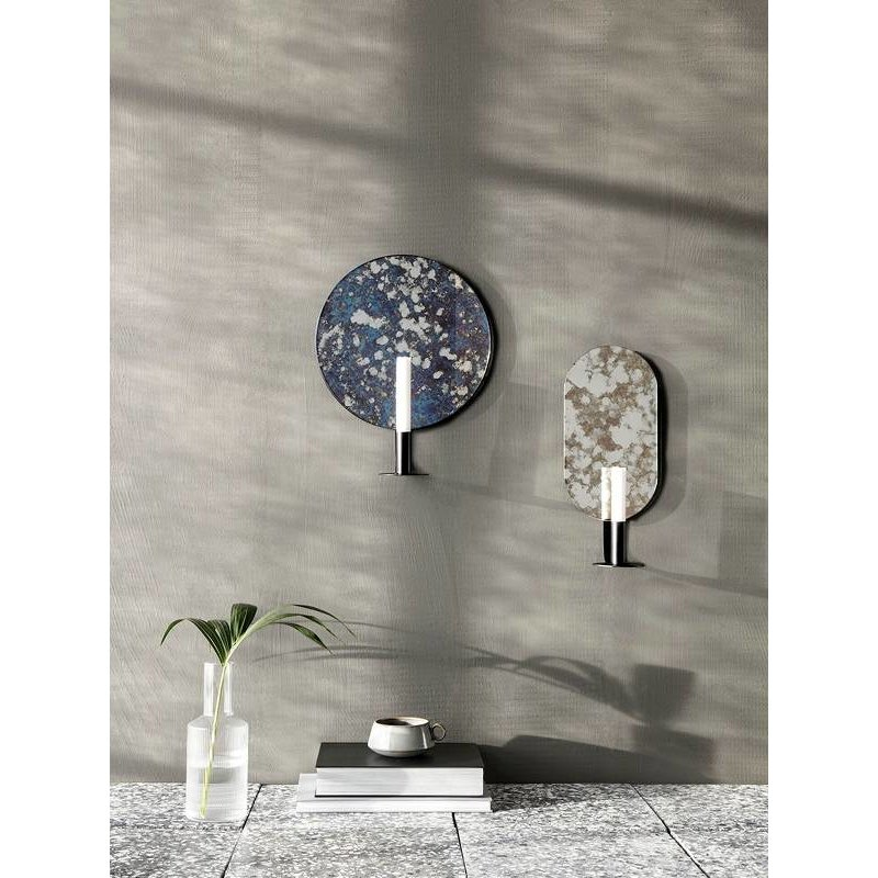 ferm LIVING-collectie Candle holder Coupled oval - Moss green