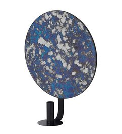 ferm LIVING-collectie Mirror with candle holder Coupled - Blue