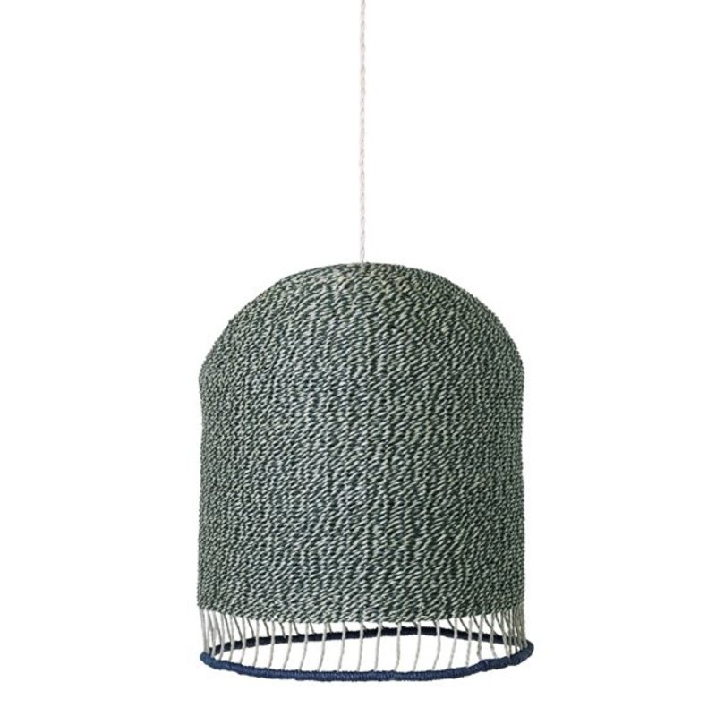 ferm LIVING-collectie  Lampenkap Braided - dustygreen
