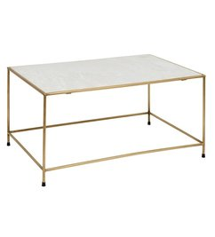 Nordal-collectie Coffee table TIMELESS - White marble & Brass