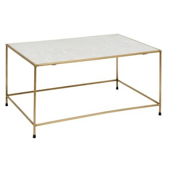 Nordal Coffee table TIMELESS - White marble & Brass