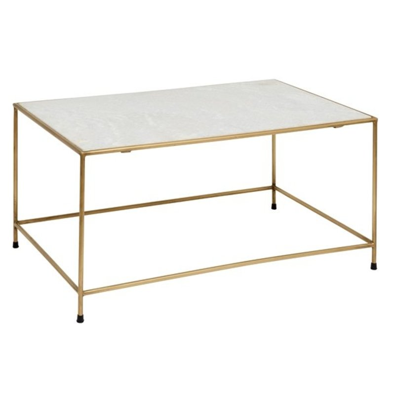Nordal-collectie Salontafel TIMELESS - Wit marmer & brass