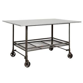 Nordal Table on wheels INDUSTRIAL