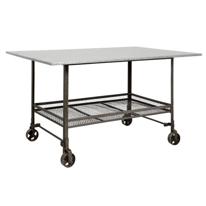 Nordal-collectie Table on wheels INDUSTRIAL