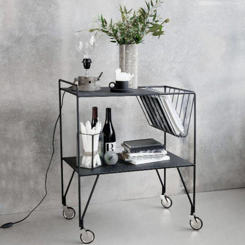 House Doctor-collectie Trolley USE - Zwart