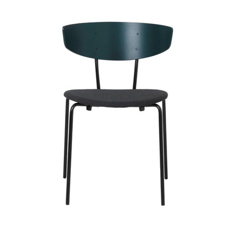 ferm LIVING-collectie Herman Chair - Dark Green/Seat Dark Green Melange
